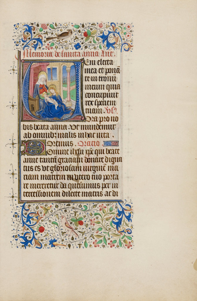 Detail of Initial V: The Virgin and Child with Saint Anne by Master of the Llangattock Hours