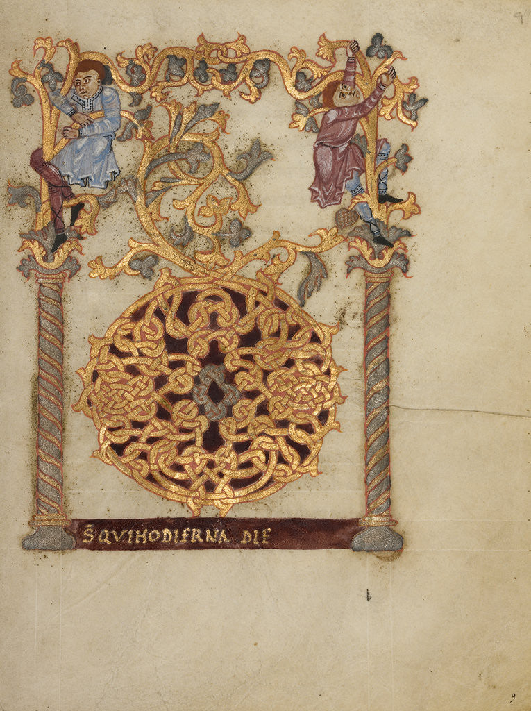 Detail of Decorated Initial D by Nivardus of Milan