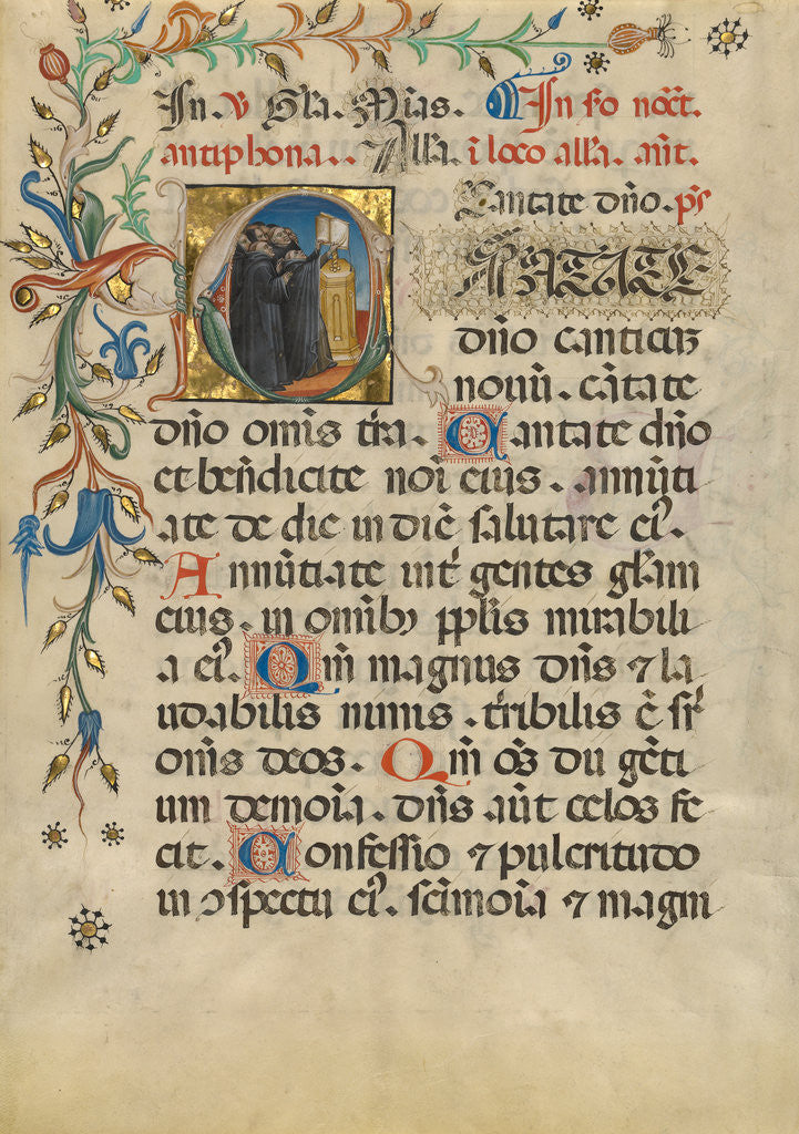 Detail of Initial C: Monks Singing by Anonymous