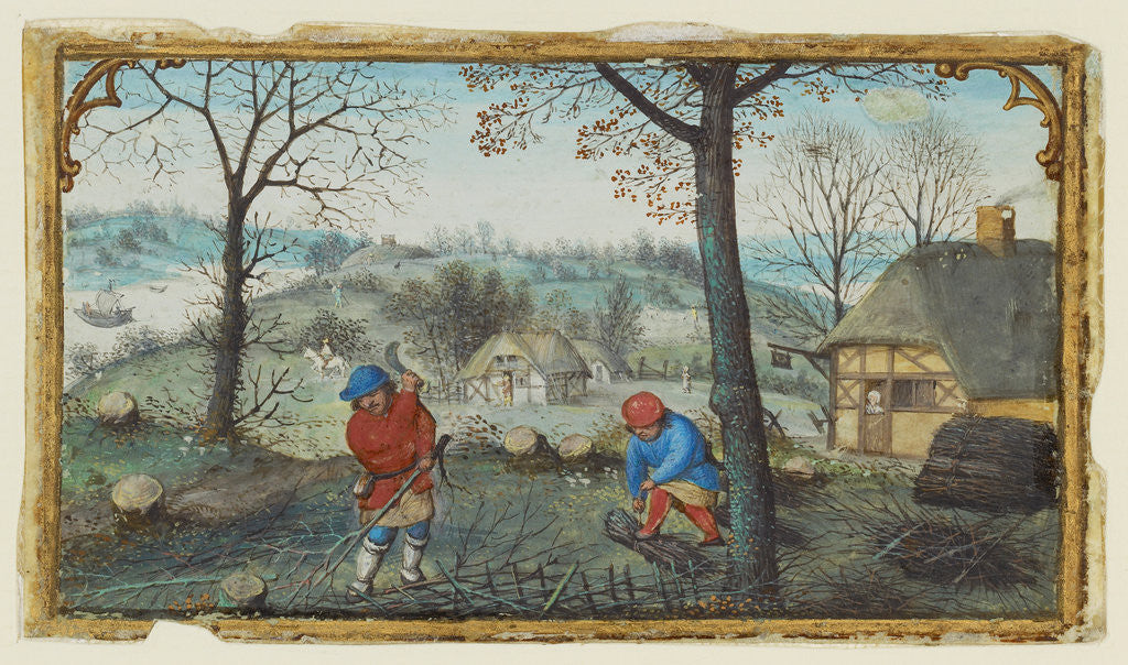 Detail of Gathering Twigs by Simon Bening