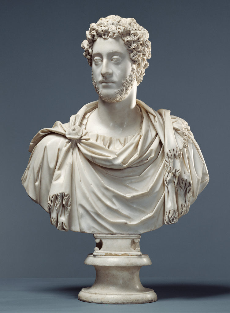 Detail of Bust of Emperor Commodus by Anonymous
