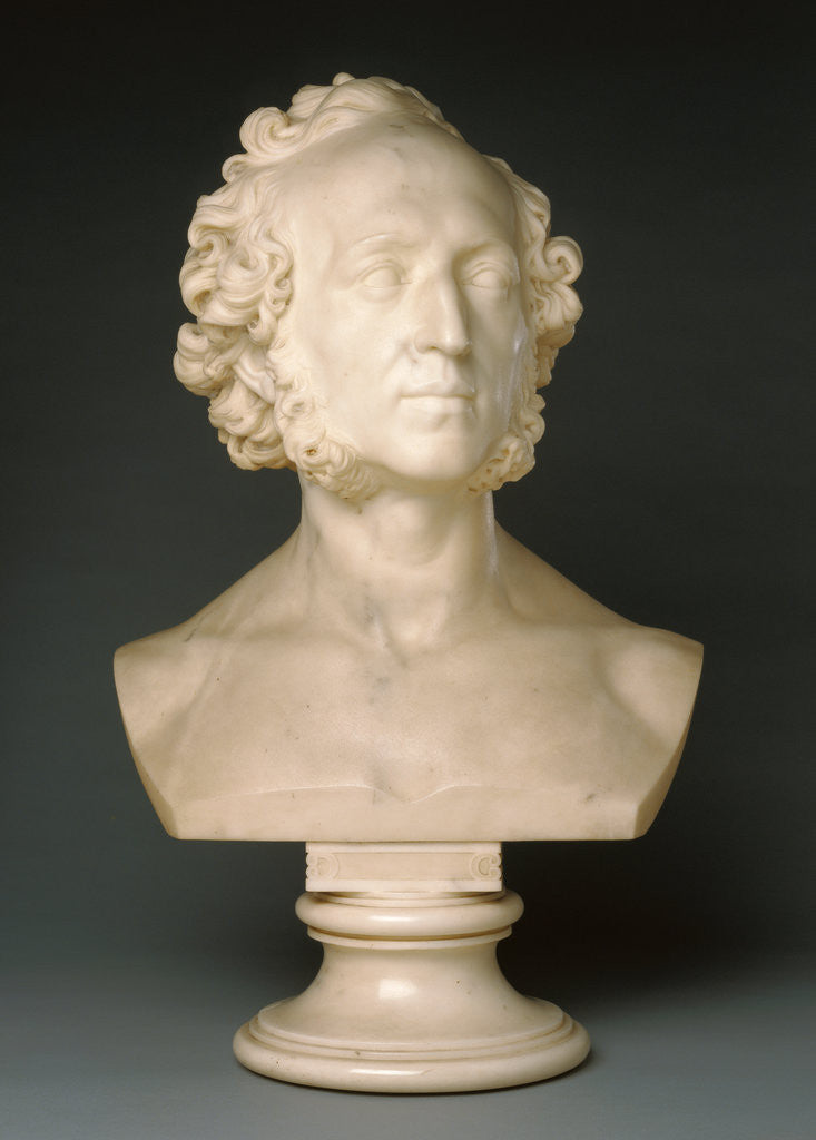 Detail of Bust of Felix Mendelssohn by Ernst Friedrich August Rietschel