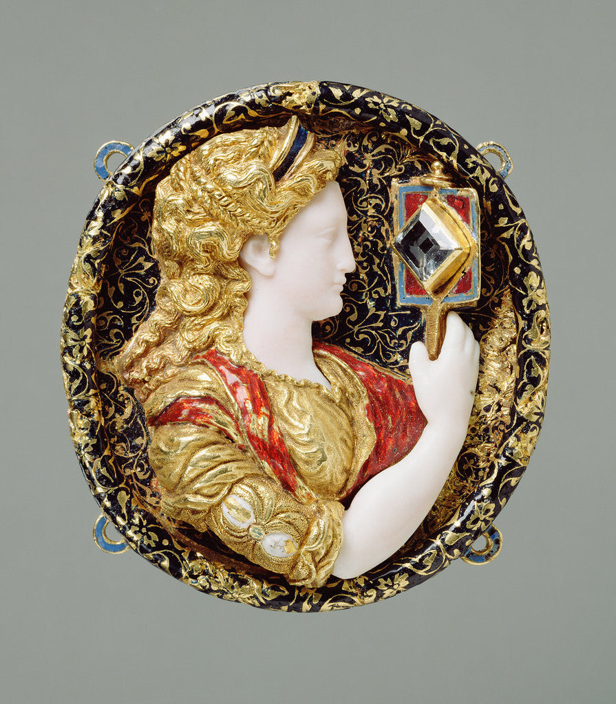 Detail of Hat Badge Representing Prudence by Anonymous