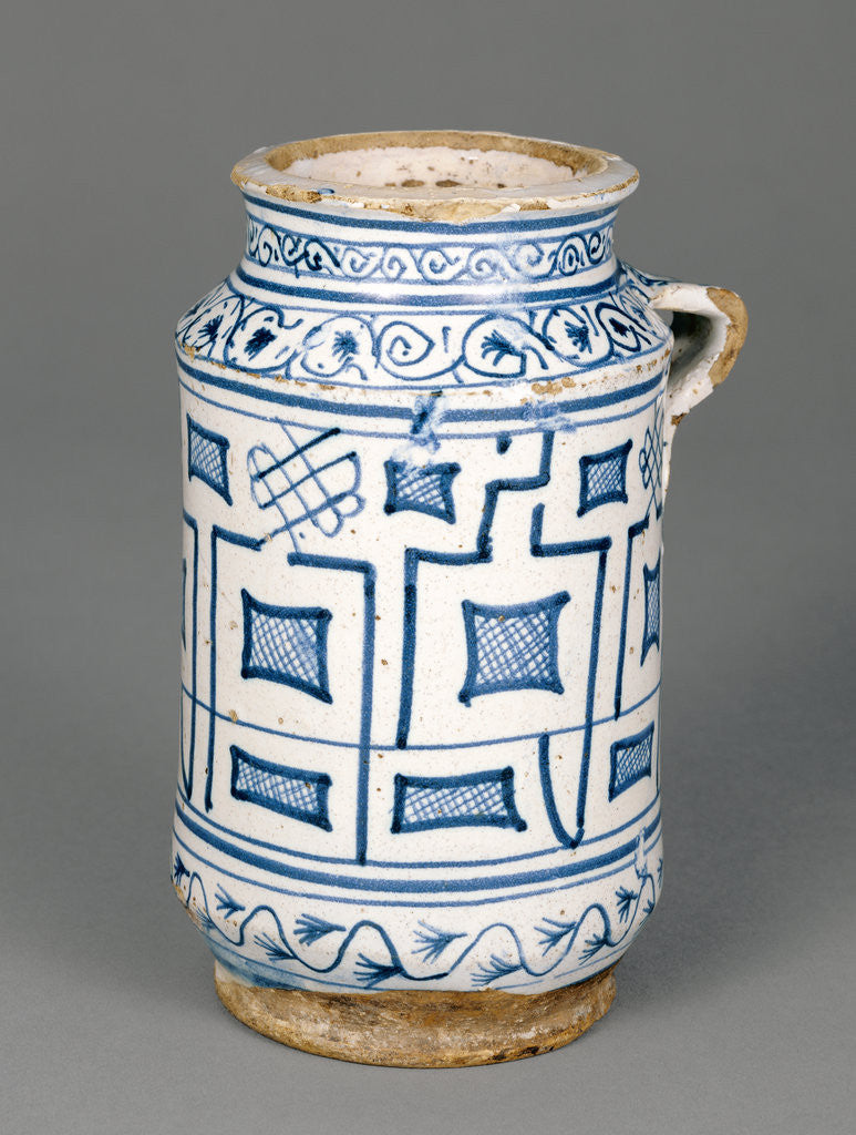 Detail of Jar with a Kufic Pattern by Anonymous
