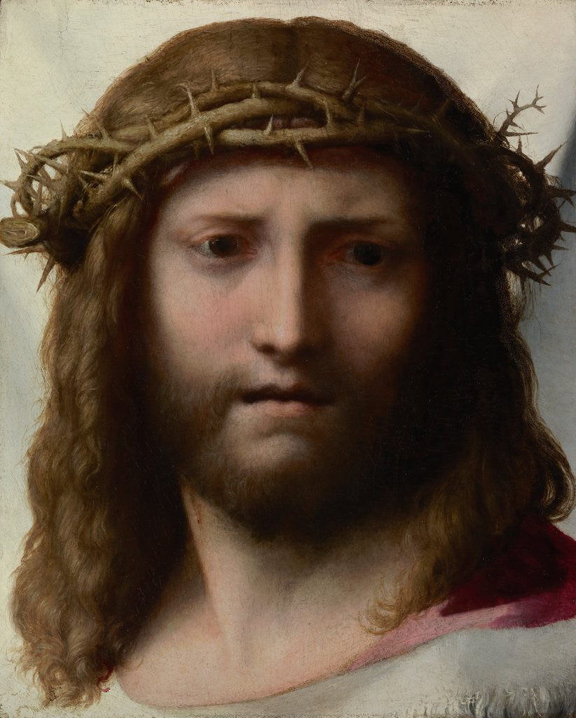 Detail of Head of Christ by Correggio