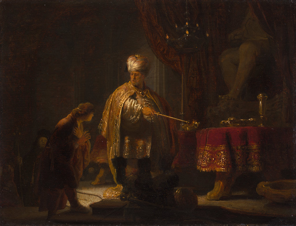 Detail of Daniel and Cyrus Before the Idol Bel by Rembrandt Harmensz. van Rijn