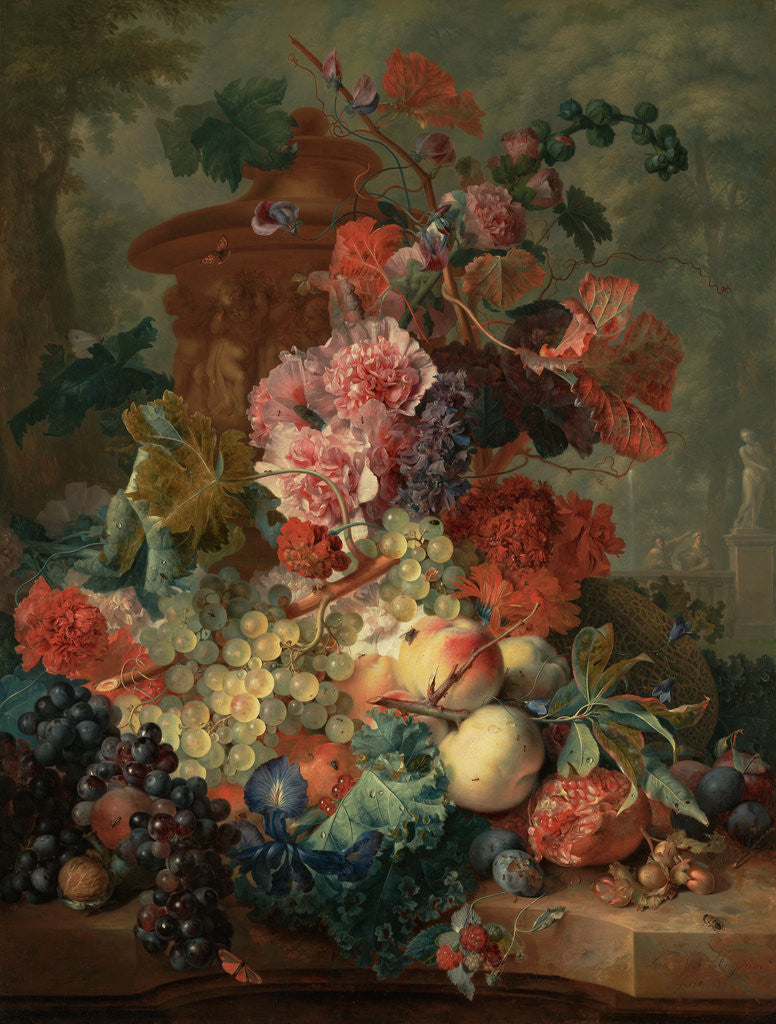 Detail of Fruit Piece by Jan van Huysum