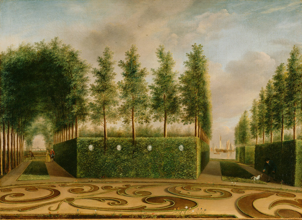 Detail of A Formal Garden by Johannes Janson