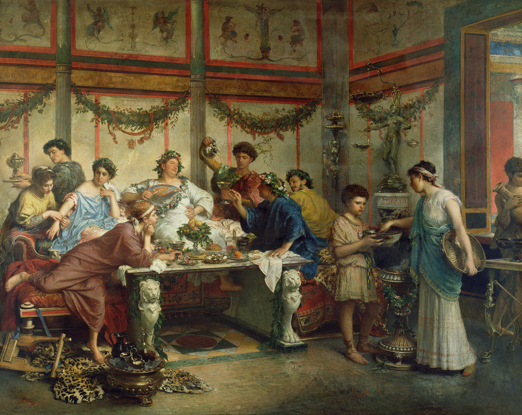Detail of A Roman Feast by Roberto Bompiani