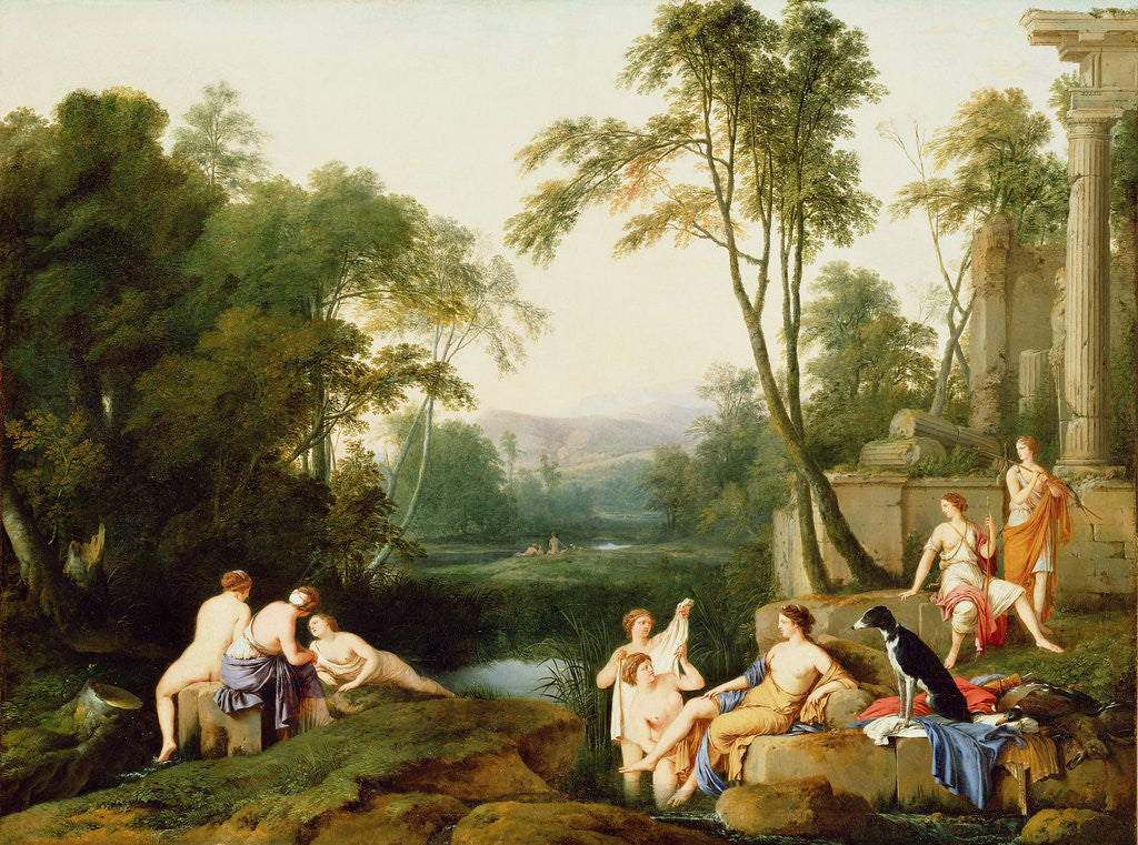 Detail of Diana and Her Nymphs in a Landscape by Laurent de La Hyre