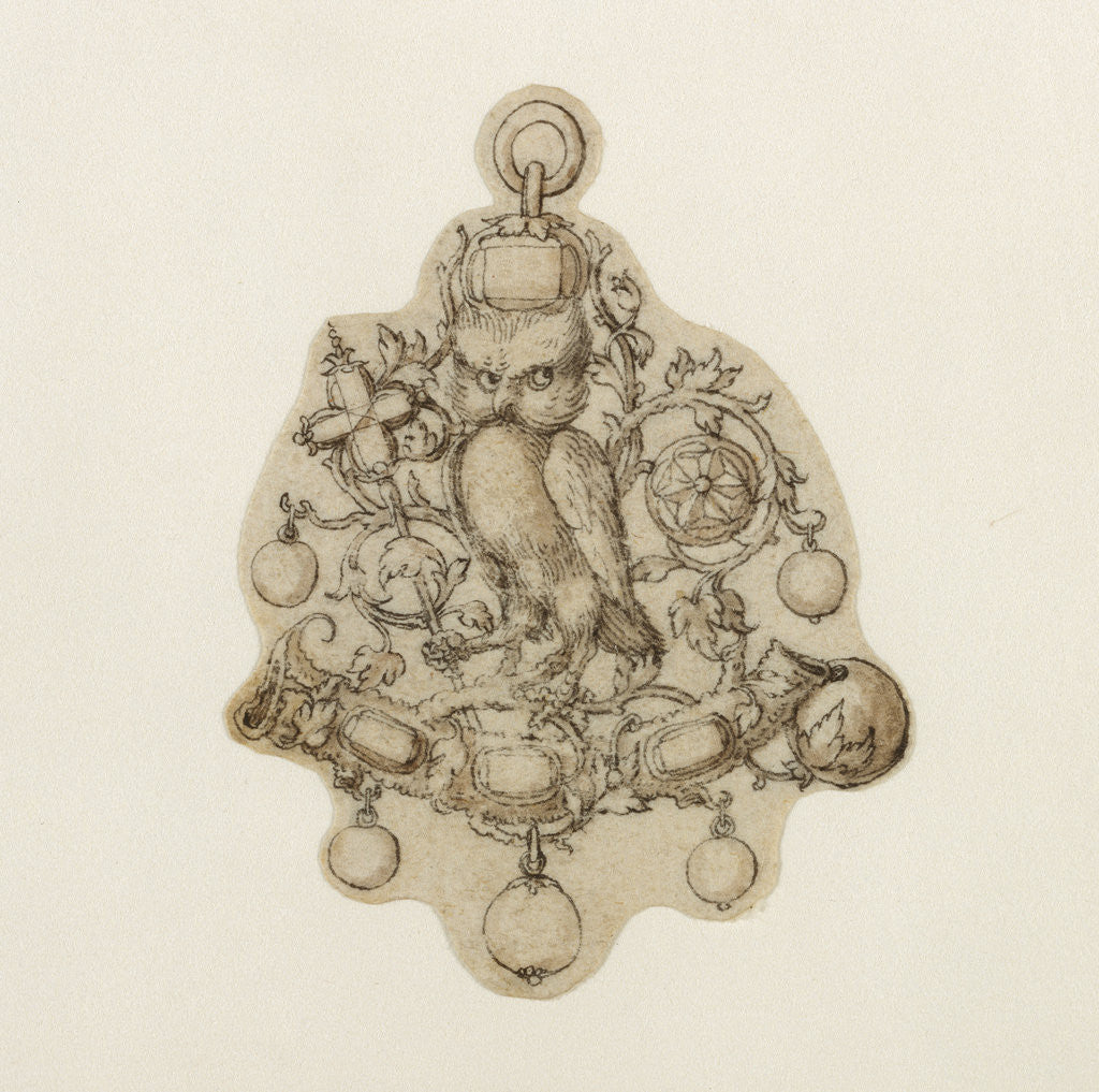 Detail of Design for a Pendant Jewel by Theodor de Bry