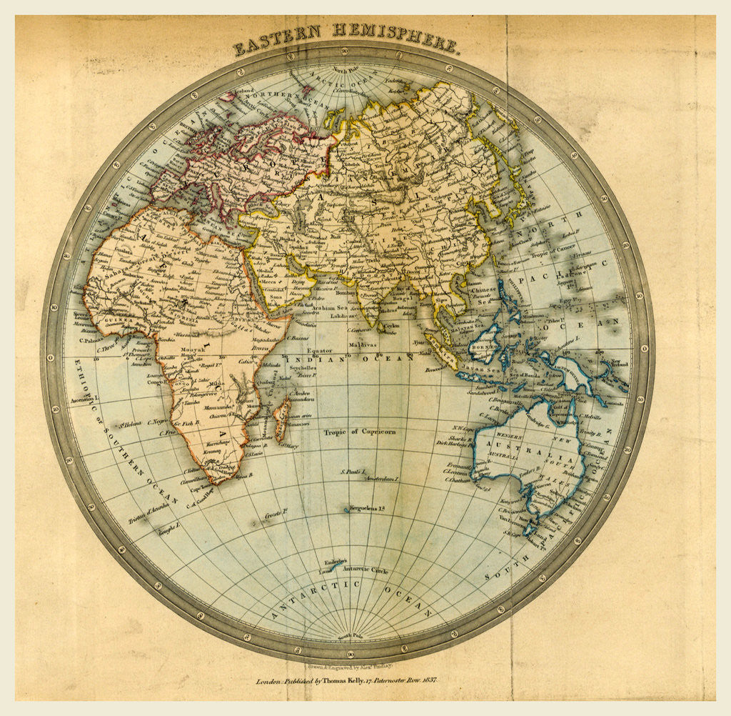 Map Eastern Hemisphere posters & prints by Anonymous