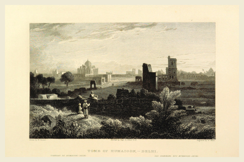 Delhi, tombs of Humaioon, Views in India, China, and on the Shores of the Red Sea by Anonymous