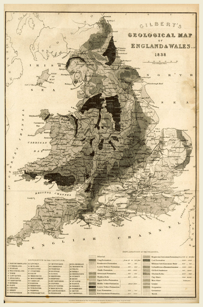 Map Of England Wales.Map England And Wales 1838