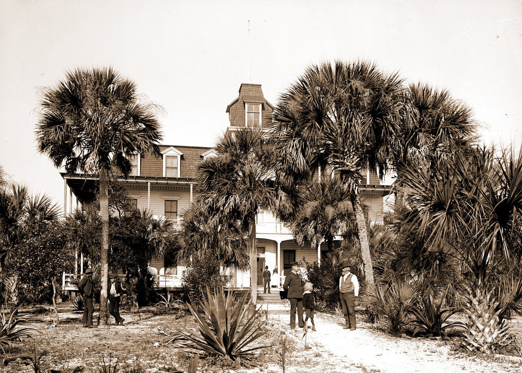 Detail of Hotel Eau Gallie, Indian River, Jackson, Hotels, Bays, United States, Florida, Indian River, United States, Florida, Eau Gallie, 1880 by William Henry