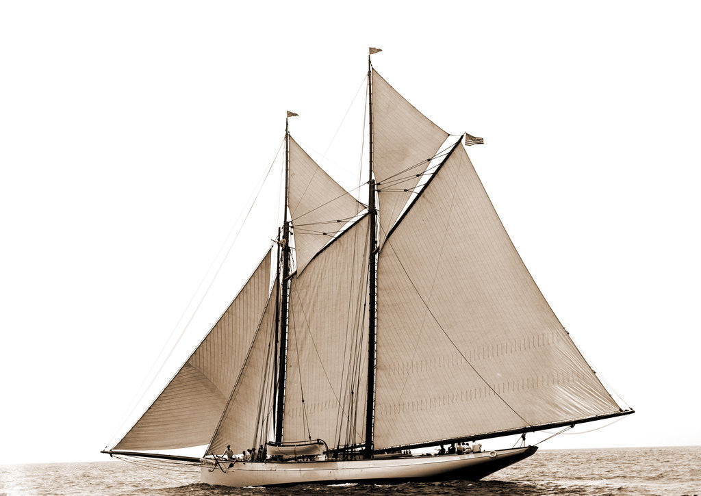 Detail of Grayling (Schooner), 1890 by Anonymous