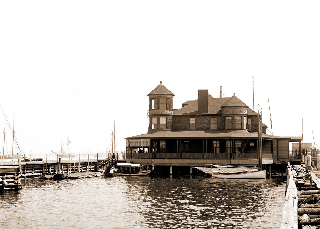 Detail of Atlantic Yacht Club House, Bay Ridge, Atlantic Yacht Club by Anonymous