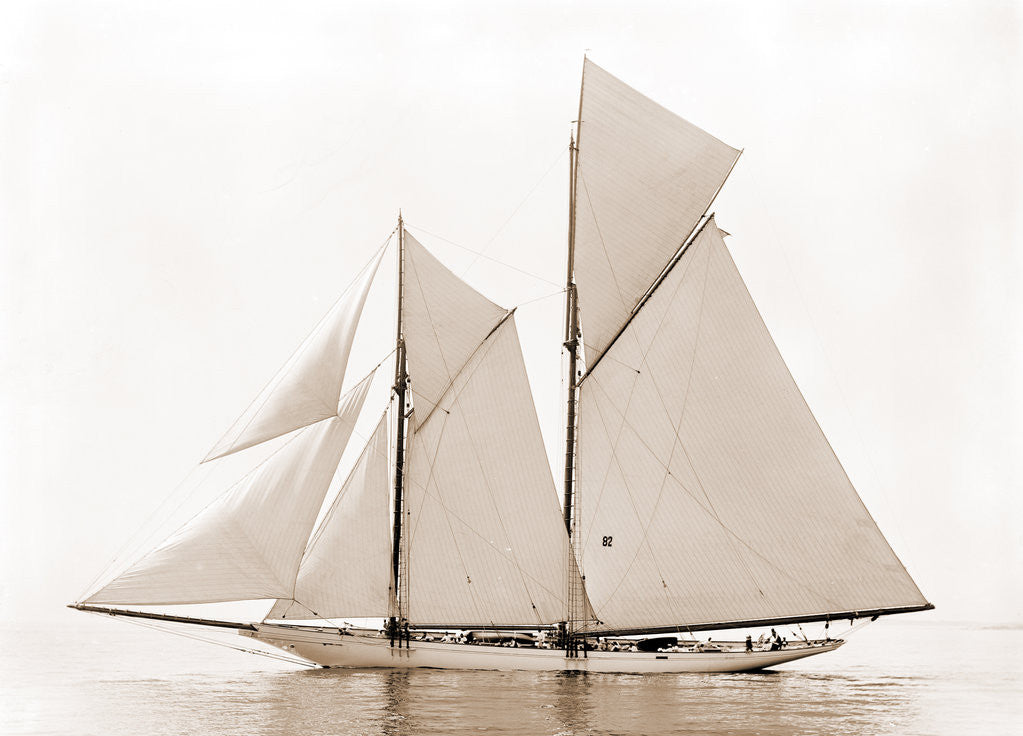 Detail of Alcaea (Schooner), 1892 by Anonymous