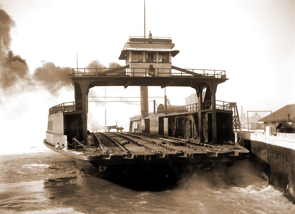 Detail of Car ferry, Detroit River, 1880 by Anonymous