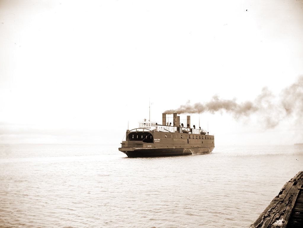 Detail of Car ferry Sainte Marie, Mackinac Straits by Anonymous