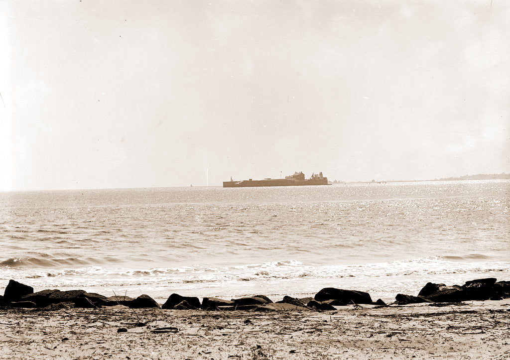 Detail of Fort Sumter from Sullivan's Island, Charleston by Anonymous