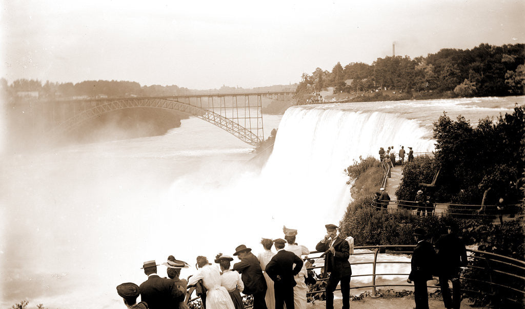 Detail of American Falls from Goat Island, Waterfalls by Anonymous