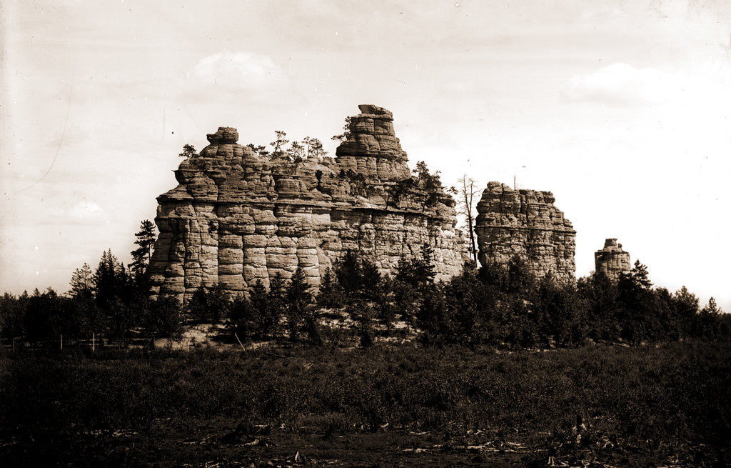 Detail of Castle rocks, Camp Douglass sic by Anonymous