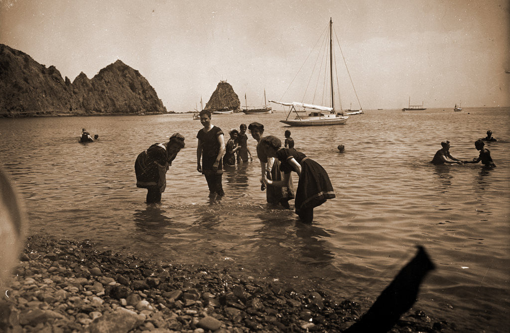 Detail of Bathing at Avalon, Santa Catalina Island by Anonymous