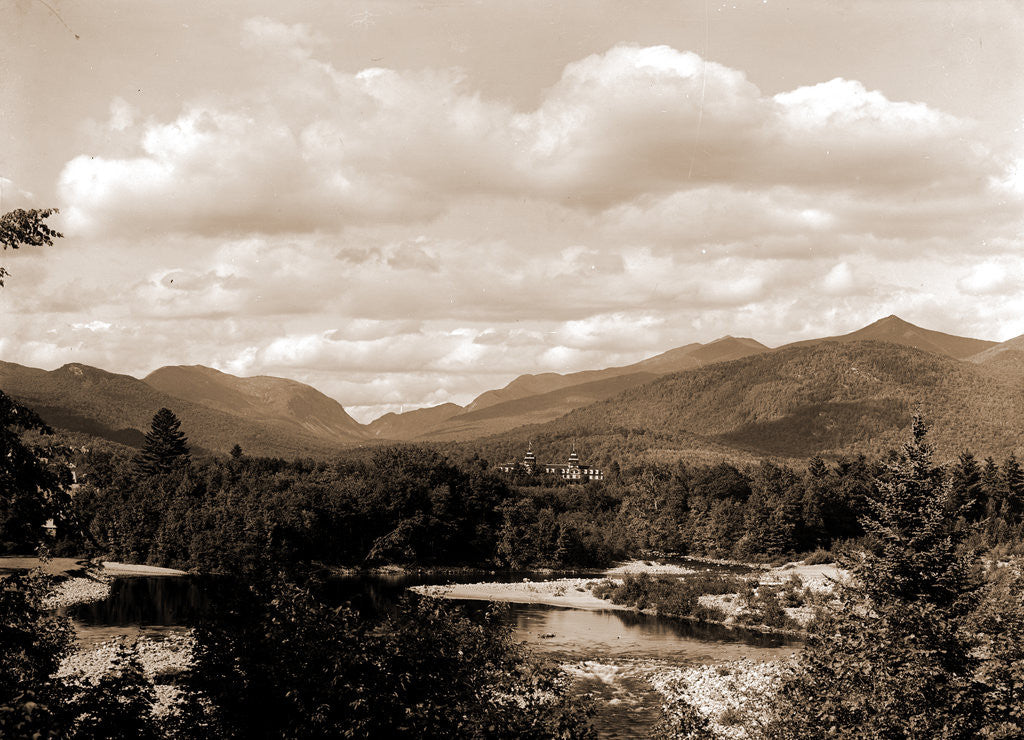 Detail of Franconia Mountains from North Woodstock, White Mountains by Anonymous