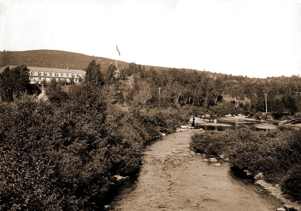 Detail of Ammonoosuc River and Twin Mountain House, White Mountains by Anonymous