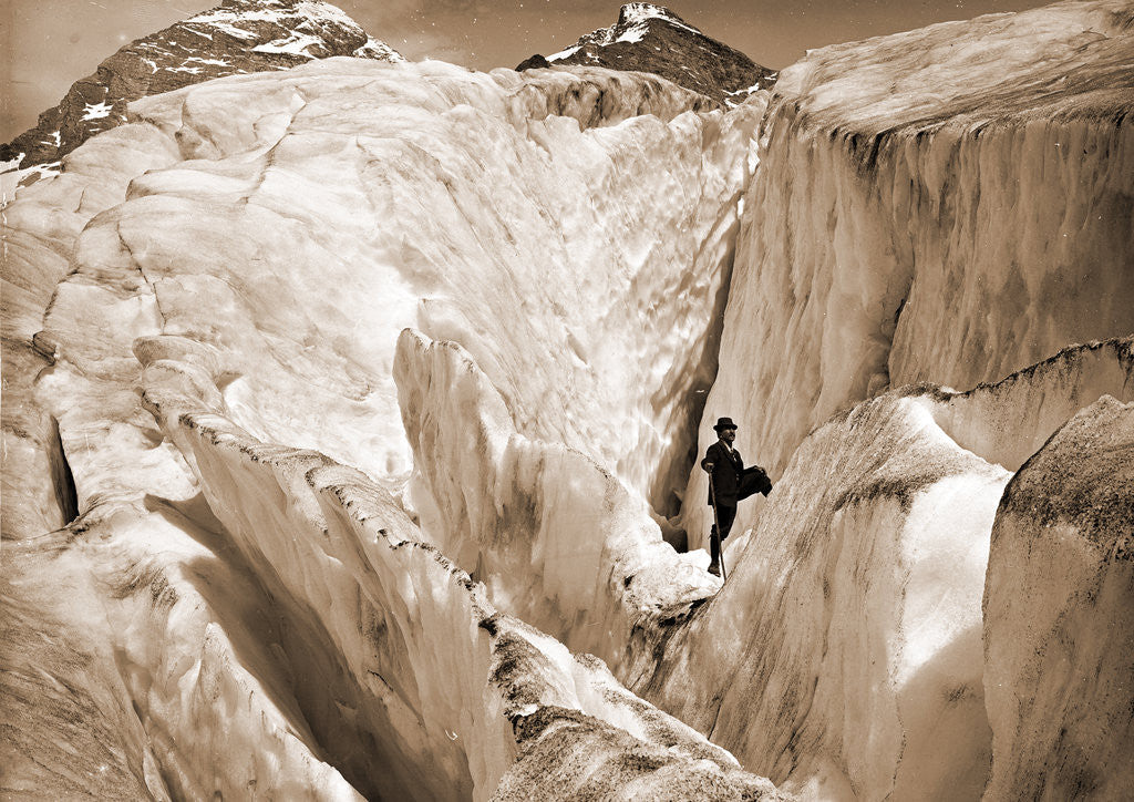 Detail of Crevasse formation in Illecillewaet Glacier, Selkirk Mountains by Anonymous