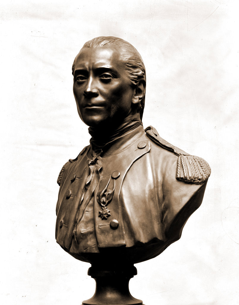 Detail of John Paul Jones, bust sculpture by John Paul Jones