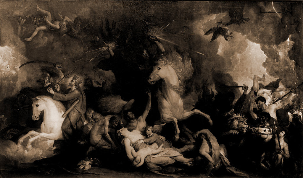 Detail of Death on the pale horse by Benjamin West