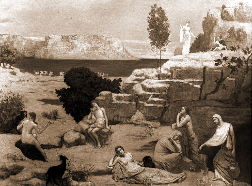 Detail of A vision of antiquity by Pierre Puvis de Chavannes