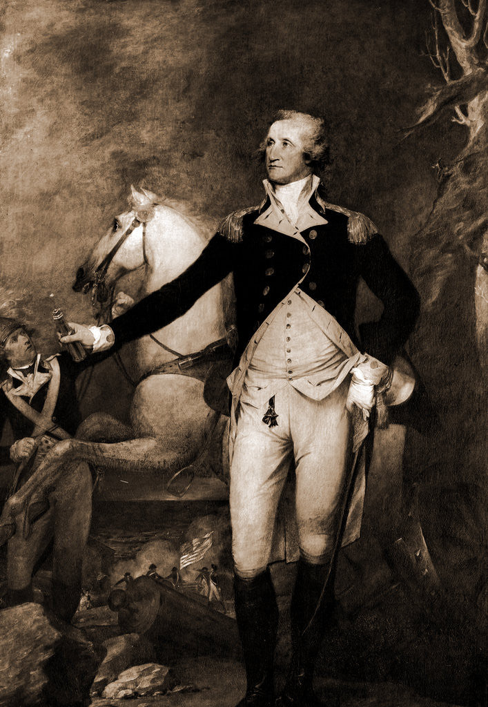 Detail of George Washington, full-length portrait by horse by George Washington