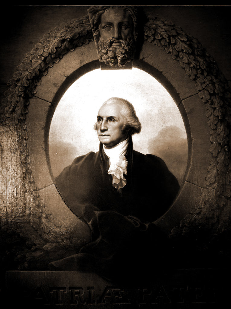 Detail of George Washington by Rembrandt Peale