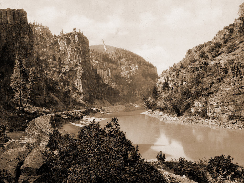 Detail of Canyon of Eagle River, west entrance, Colorado, Jackson, William Henry, 1843-1942, Canyons, Rivers, United States, Colorado, Eagle River, 1899, Echo Cliffs, Grand River Canon, Colorado by William Henry Jackson