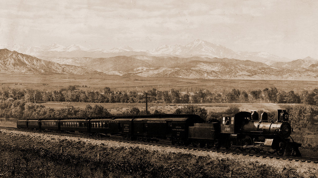 Detail of Chicago Special, Burlington Route, Colorado by William Henry Jackson