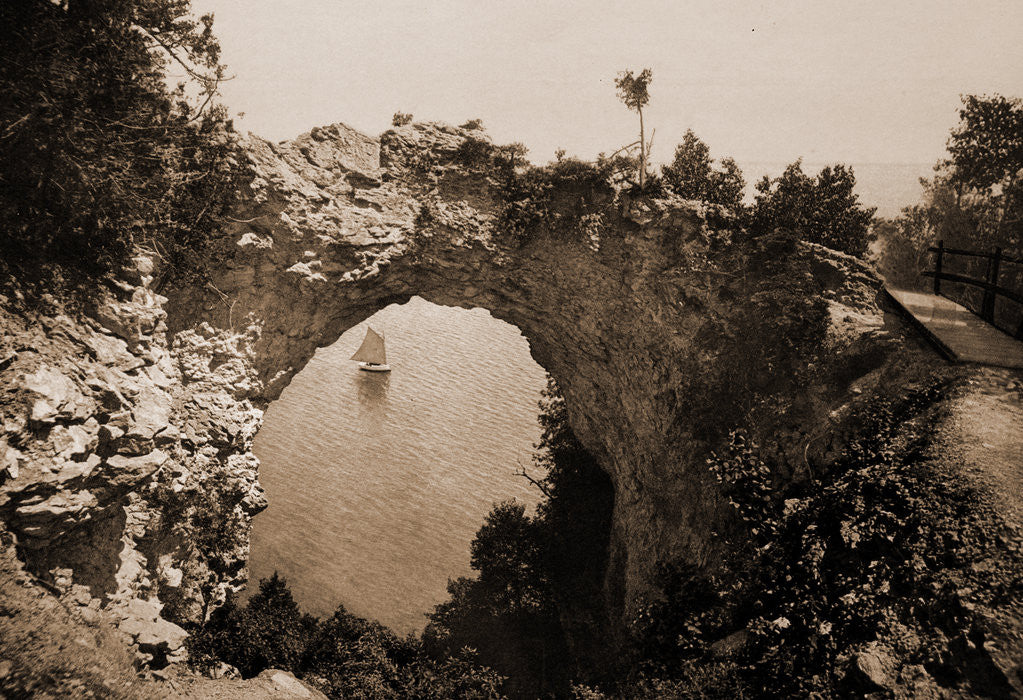 Detail of Arch Rock, Mackinac Island by Anonymous
