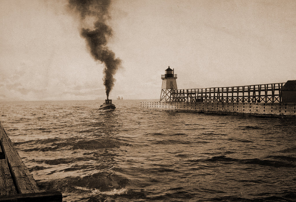Detail of Harbor entrance, Charlevoix by Anonymous