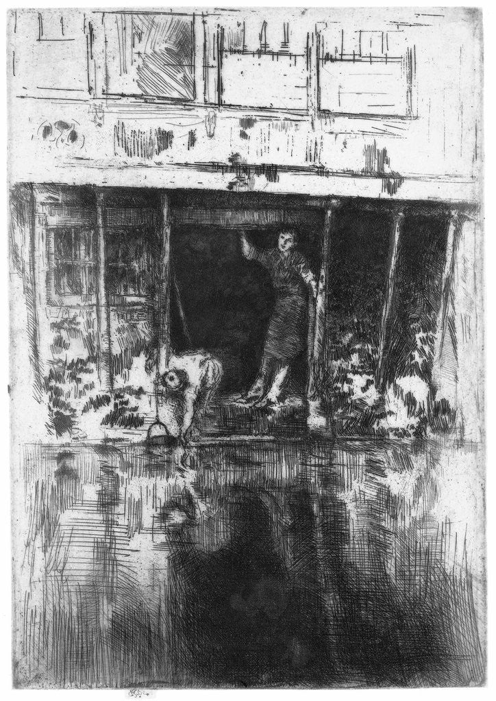 Detail of Canal house in Amsterdam by James Abbott McNeill Whistler