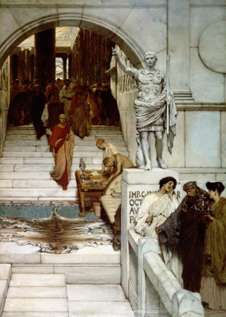 An Audience at Agrippa's, 1875 by Lawrence Alma-Tadema