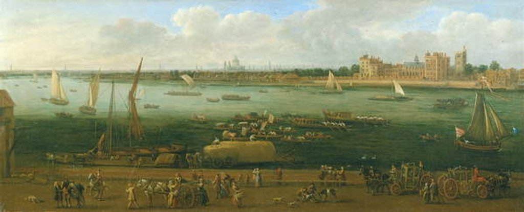 Detail of A Panoramic View of Lambeth Palace by Jan the Elder Griffier