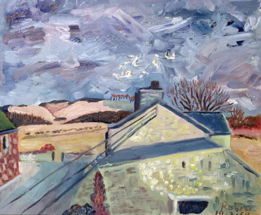Detail of Doves at High Barns, 1998 by Robert Hobhouse