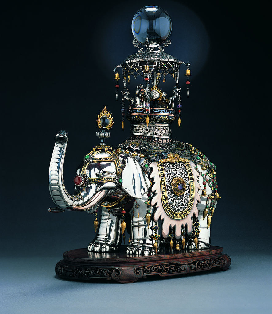 Detail of Elephant koro (incense burner) by Nakamura Yoshizane