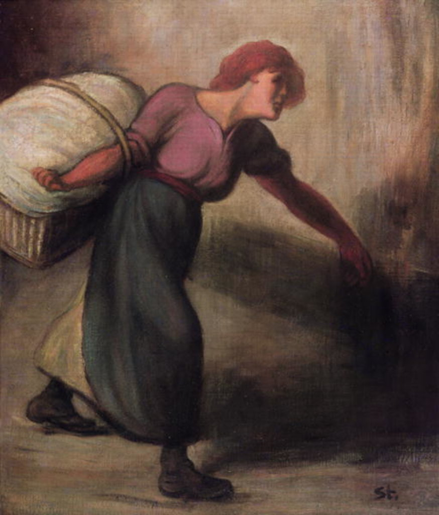 Detail of The Laundress, 1894 by Theophile Alexandre Steinlen