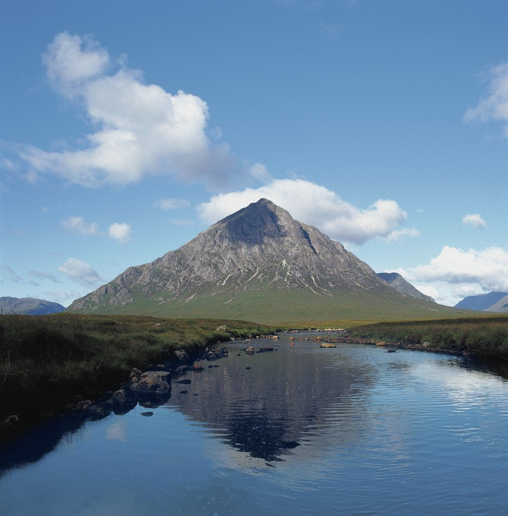 Detail of Buchaille Etive Mor Reflected in Lake by Corbis