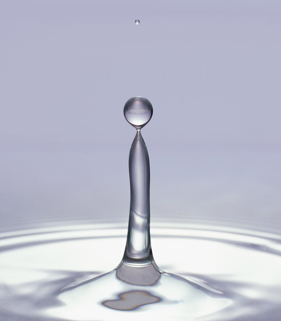 Detail of Droplet of Water and Ripple by Corbis