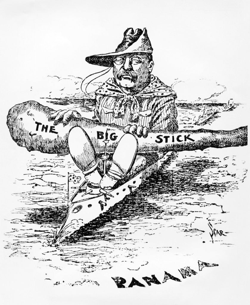 cartoon of theodore roosevelt with  u0026quot the big stick u0026quot  posters