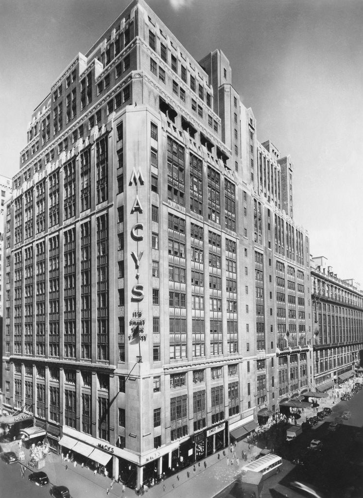 Detail of Exterior of Macy's Department Store by Corbis